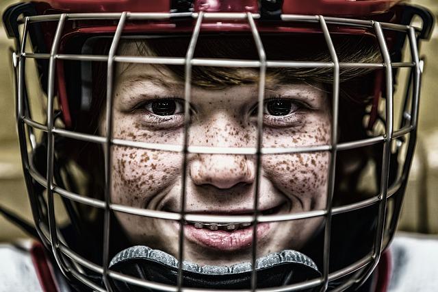 malý brankář hokeje