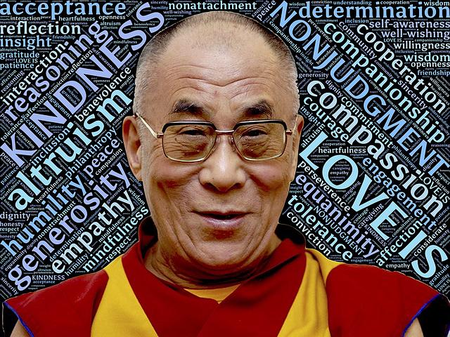 Dalajláma symbol soucitu